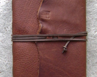 "Rustic leather Journal, 6""x 9"", distressed brown journal, handmade journal by Dancing Grey Studio(2102)"