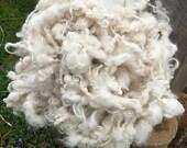 Art Yarn, Bulky Alpaca Yarn, Chunky Alpaca, Textured Yarn, Hand Spun, Natural White
