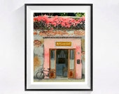 4. Bicycle art PRINT, Watercolor painting, Painting of Florence Italy, Bike painting, Old door painting, Paintings old buildings and bikes