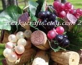 Wine cork kissing ball/ vineyard wedding/ flower girl bouquet/floral alternative
