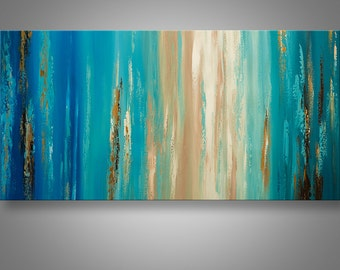 Abstract Wall Art, Abstract Painting, Abstract Seascape, Acrylic, Canvas Art, Large Painting, Seascape Painting, Home decor, Catalin, Art