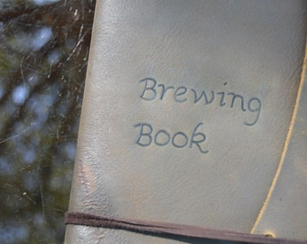 Handmade Leather Beer Brewing Journal FREE Personalization