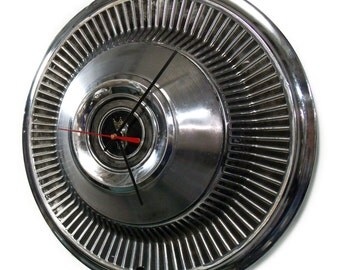 1968 - 1969 Ford Galaxie / LTD Hubcap Wall Clock - Retro Car Hub Cap Clock