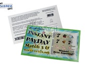 Pregnancy Announcement Scratch Off Lotto Replica Ticket - Instant Payday Design