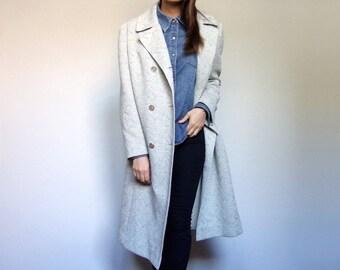 Pastel Jacket Vintage Spring Coat 70s Coat Double Breasted Trench Coat Pastel Coat - Extra Large XL
