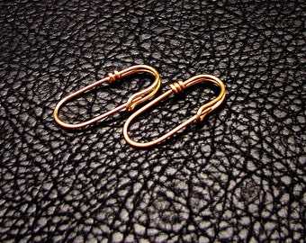Gold Plate Open Loop Safety pin, earrings, shawl pins, stitch markers multipurpose