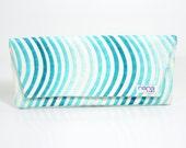 Nana handmade celadon Casey envelope clutch