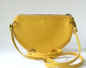 Nana canary yellow mini leather crossbody bag