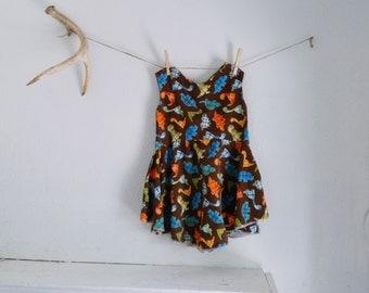 Dinosaur Girls Circle Skirt Dress 4T 5T