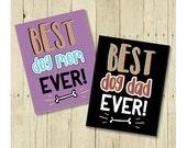 Best Dog Mom Magnet, Gift from Dog, Dog Magnets, Best Dog Dad Magnet, Dog Art, Dog Lover Gift, Gift Magnet, Fridge Magnet,