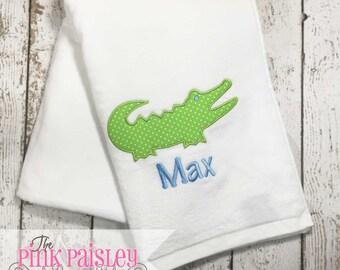 Alligator Beach Towel | Personalized Beach Towel | Boy Beach Towel | Gator Towel