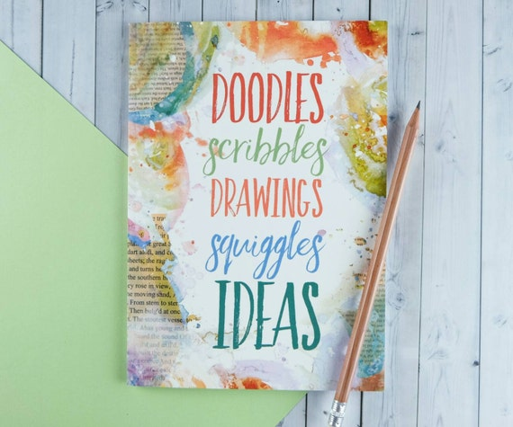 Scribbles Drawing Book : Note book drawing sketch doodles and by bookishlyuk