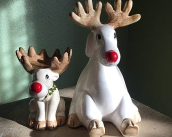 Fitz Floyd vintage porcelain reindeers