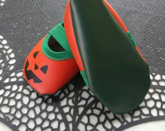 Jack O Lantern Vegan Baby shoes
