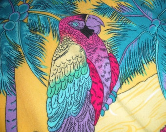 HAWAIIAN Shirt HIGH SEAS brand - Size L - 100% Rayon - Machine Washable - Colorful Vintage Beach and Vacation Wear