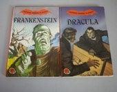 Vintage British Ladybird Children's Horror Classics Dracula & Frankenstein