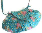 Turquoise Pink Floral Bag