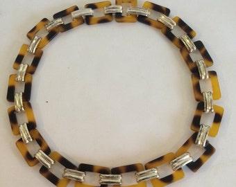 Vintage Faux Tortoise Necklace