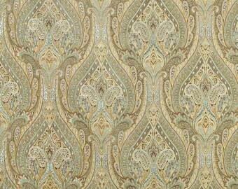 Waverly Karaj Paisley mineral drapes, pair, two 50W panels, Waverly curtains,