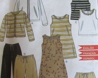 New Look 6959/Sewing Pattern for Kids/Easy Sew Casual Clothes/Size 3-8/Dress/Skirt/Jacket/Tank Top/Sweatpants/Girls