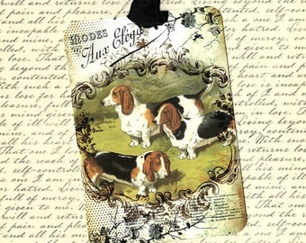 Tags, Basset Hounds, Dog Lover Tags, Hound Dogs, Vintage Style