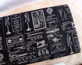 Cotton fabric, Retro fabric, Black fabric, Sewing tools, Lolita fabric, Quilt fabric, Vintage feel fabric,  1  yard FB182