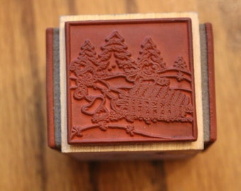 Retired Embossing Arts 882LL Christmas Cube Teddies 4 rubber stamps C.1993