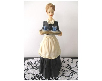 Maid Figurine * Maid Serving Tea * VICTORIAN NOSTALGIA By Popular Imports
