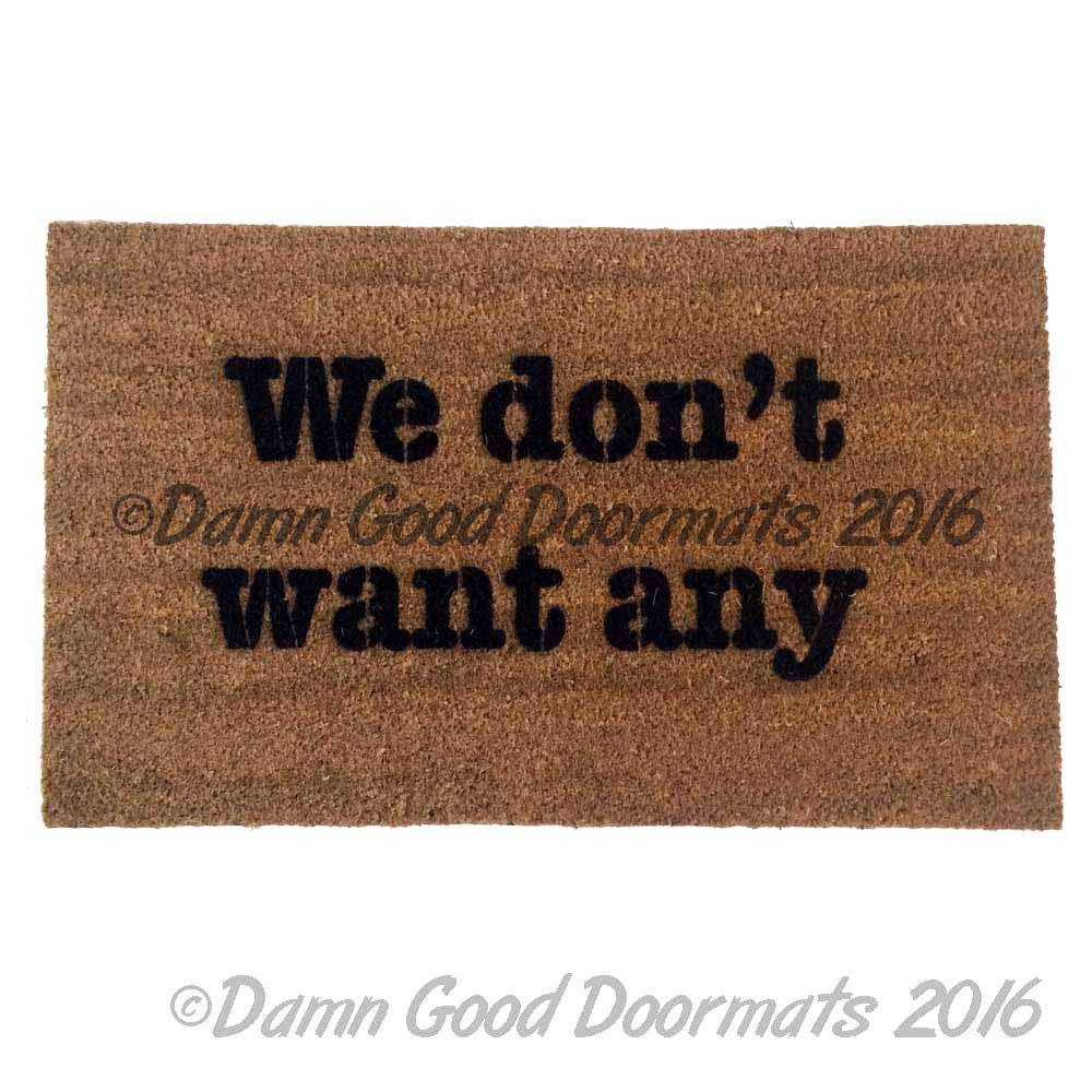 Don 39 t want any rude doormat by damngooddoormats on etsy - Offensive doormats ...
