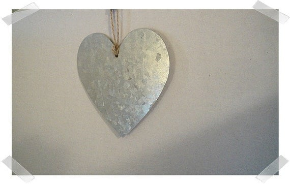 Metal heart ornament single or set of craft supplies