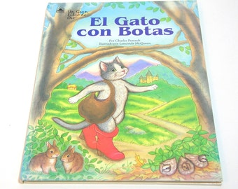 Puss In Boots, Spanish Children's Book, El Gato con Botas