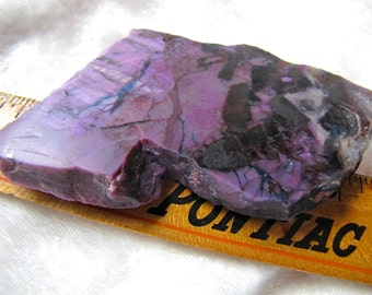 Beautiful Large 111 gms Sugilite Rough Slab Natural Royal Purple Healing light/ Violet Flame Stone
