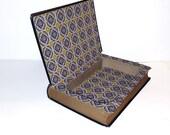 Hollow Book Safe Kenilworth Sir Walter Scott Cloth Bound vintage Secret Compartment Keepsake Box Hidden Security Box