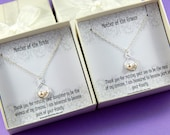 Set of 2 -  Mother Of The Bride and Mother of the Groom Necklaces - Gift Boxed Jewelry Thank You Gift