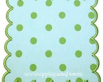 243 Square Scalloped Patch Machine Embroidery Applique Design