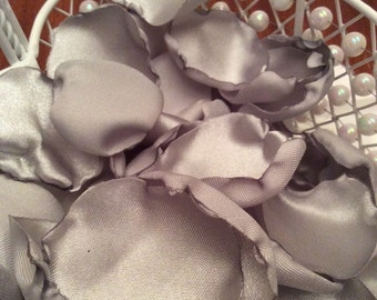 Silver Satin Rose Petals Silver Wedding Anniversary -Free Ship to Lower 48