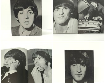 Vintage 1965 Beatles USA Ltd Fan Club Photo Albums, Set of 4 - Rare, Limited Ed. Exclusive Booklets - 1 Each of John, Paul, George and Ringo