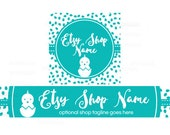 Etsy Banners - Etsy Shop Banners - Easter Etsy Banners - Bunny Etsy Banner - Easter 2-16 - 2 Piece Set