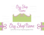 Etsy Shop Banners - Etsy Banners - Geometric Etsy Banners - Boutique Etsy Shop Banners - Etsy Banner Sets - 2 Piece - 1-16