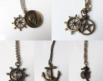 Anchor / Nautical Necklaces / Earrings