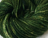 Hand Dyed Bulky Yarn Land Ho! forest green yarn 100% superwash merino wool 106 yards tree green bulky weight yarn chunky yarn
