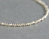 Sterling silver tiny beaded bracelet-Beaded bracelet-Nuggets bracelet