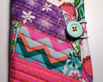 Quilted Floral Memo/Mini Notebook Holder