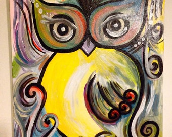 Abstract swirl Owl