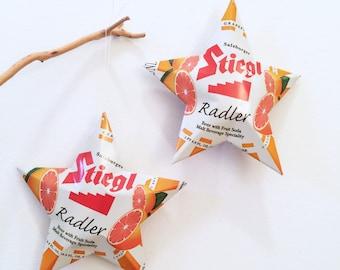 Radler Stiegl, Salzburger, Beer with Fruit Soda, Grapefruit Aluminum Cans Made into Stars, Orange Bar Decor