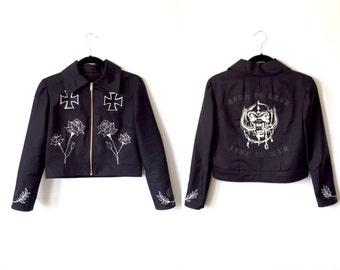 Motorhead Jacket / Patch Jacket / Lemmy Ace of Spades / Black Twill Bomber Jacket