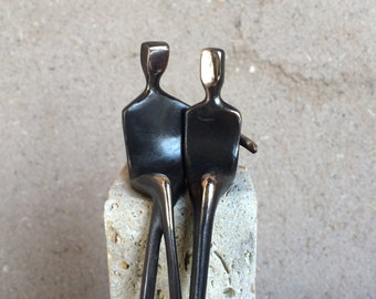 I'm Your Man: Contemporary Bronze Sculpture of a Male Couple