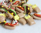 Assorted Fast Food Charms, Set of 6