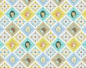 SALE - Blend Fabrics - Born Wild Collection - Born Wild Patchwork in Blue