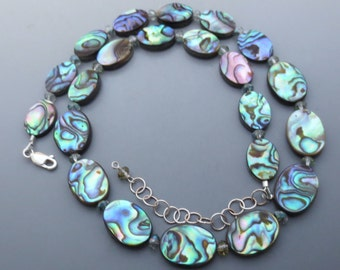 Abalone Shimmer Sterling Silver Necklace EE Designs